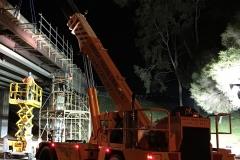 Franna in action Bridge Works - Infrastructure